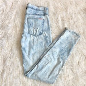 Hudson Nico Super skinny mid rise faded jeans
